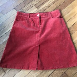 Lilly Pulitzer aline corduroy pocket skirt 8